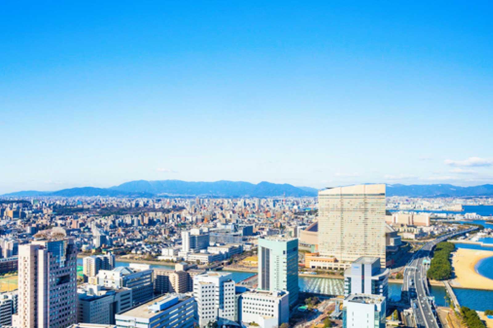 福岡市内の中心部