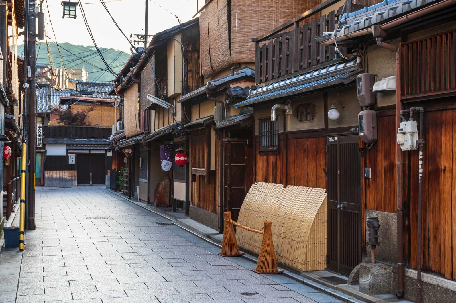 古い日本固有の街並み