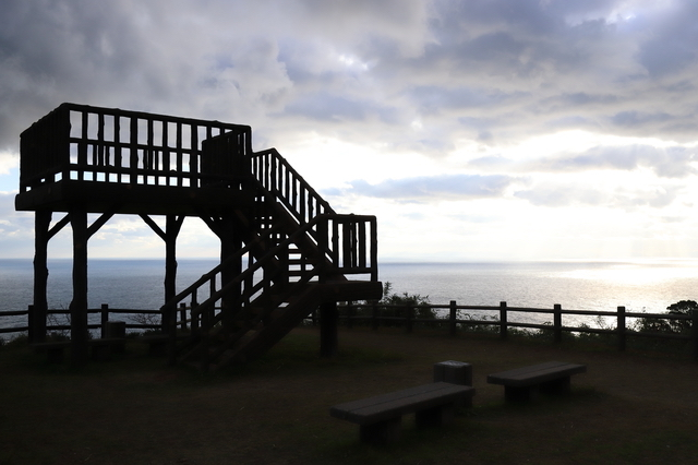 越前岬の展望台