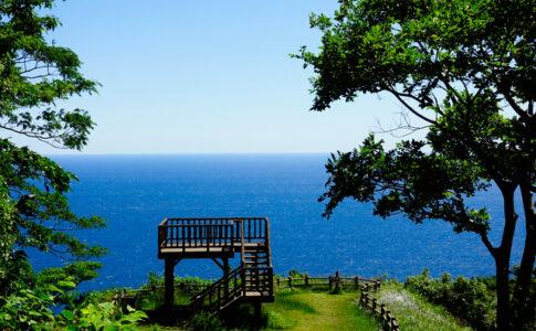 展望台から広がる海(越前岬)
