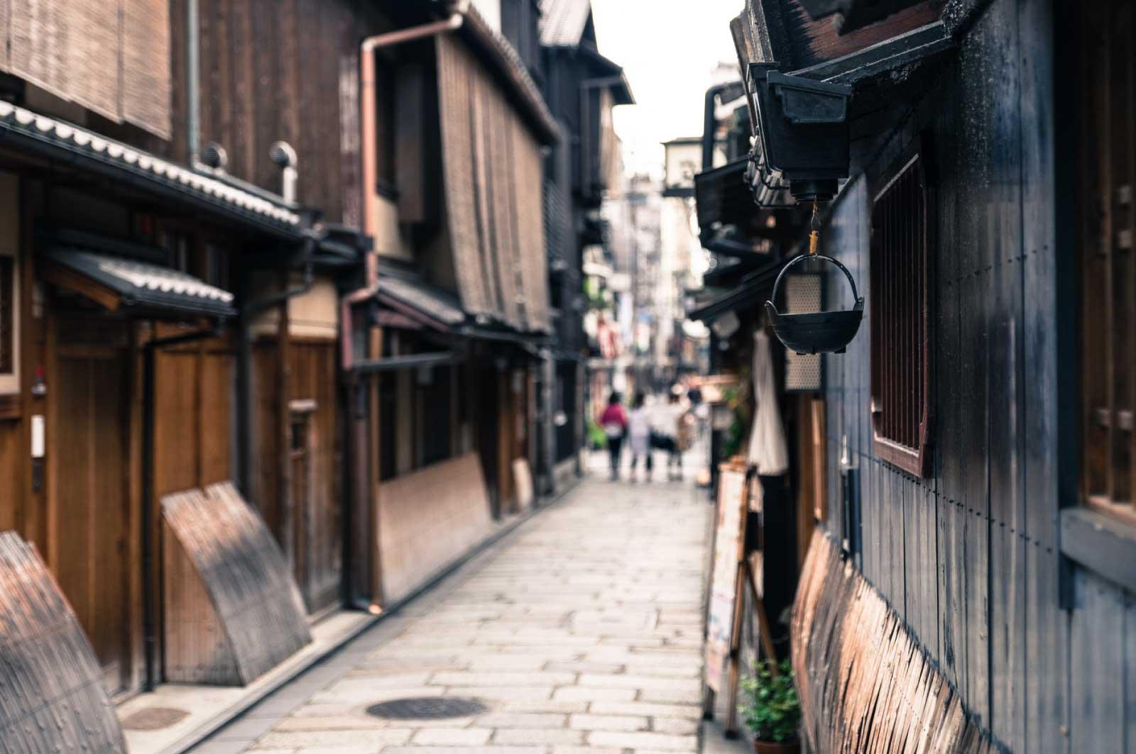 京都・祇園の路地裏