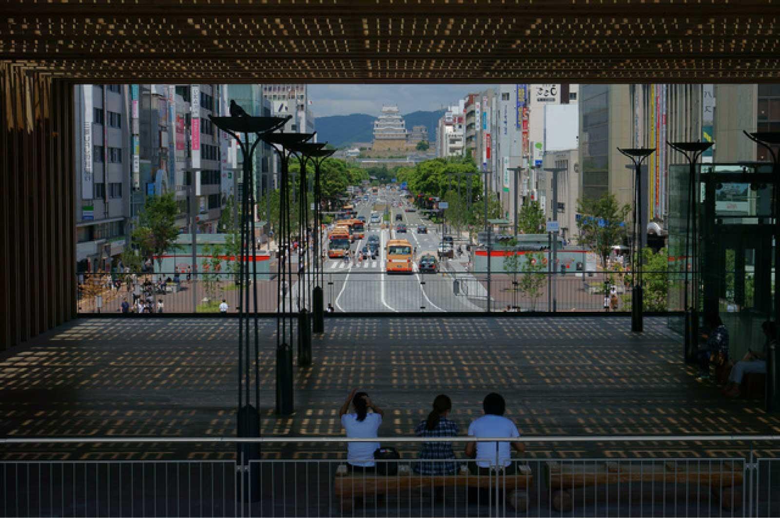 姫路駅と姫路城