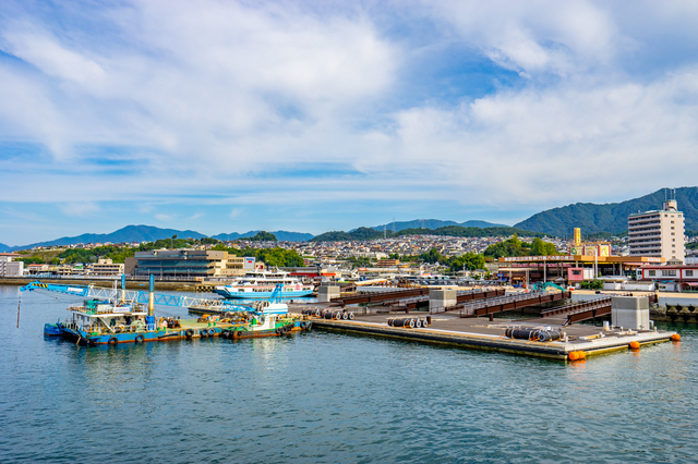 牡蠣の生産量は、日本では広島が一番