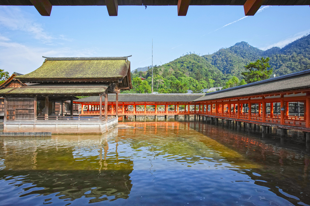 厳島神社の西廻廊