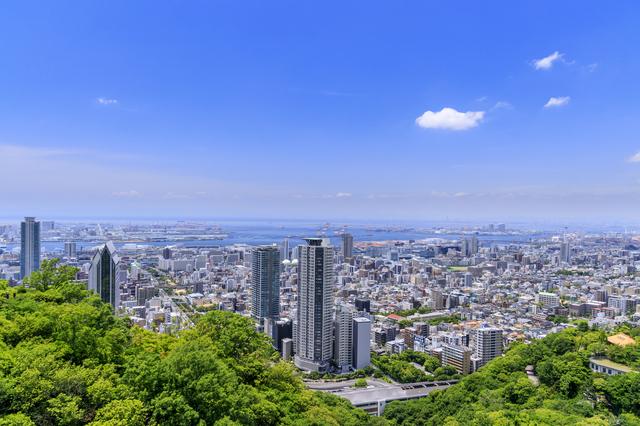 神戸と六甲山