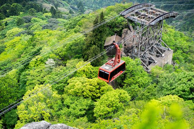 筑波山のケーブルカー