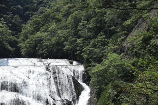 夏の袋田の滝