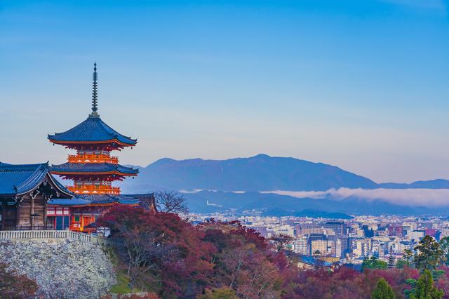 積極的に京都の観光スポットをまわっています