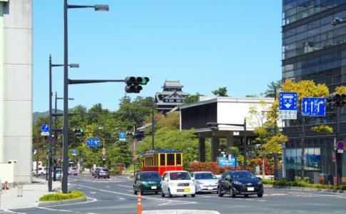 松江市・大手前通り
