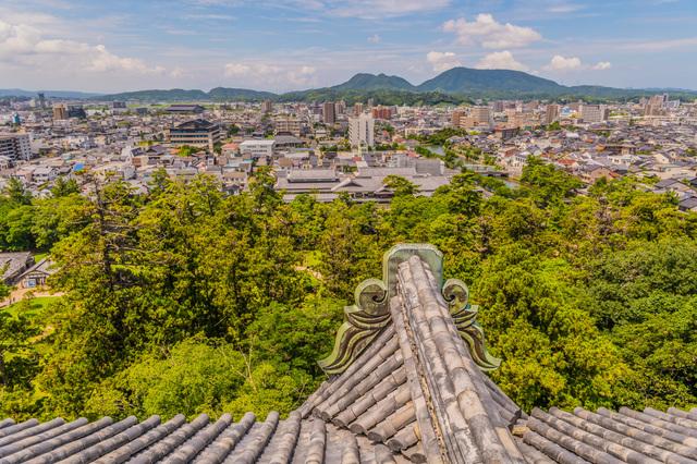 松江城からの眺め
