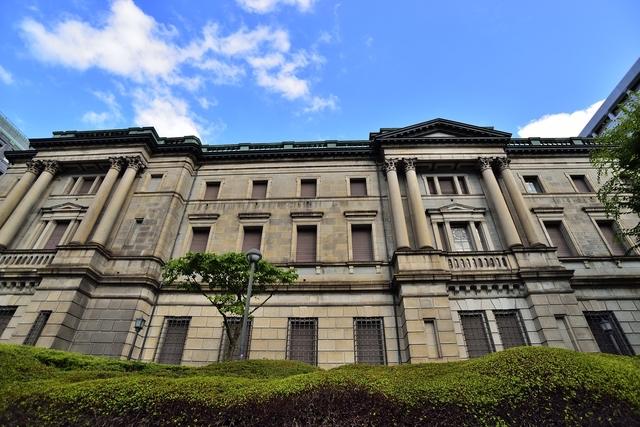 モダンで美しい外観の日本銀行本館・旧館