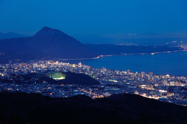 十文字原展望台からの夜景