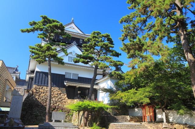 岡崎城がよく見える位置から