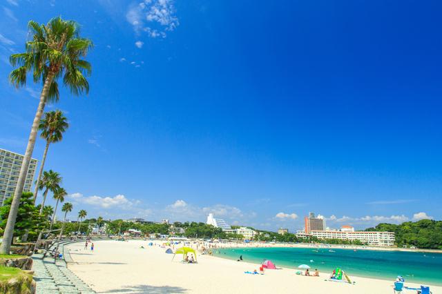 白浜で海水浴