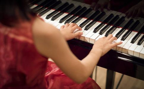 3歳の頃からピアノを習い始めた