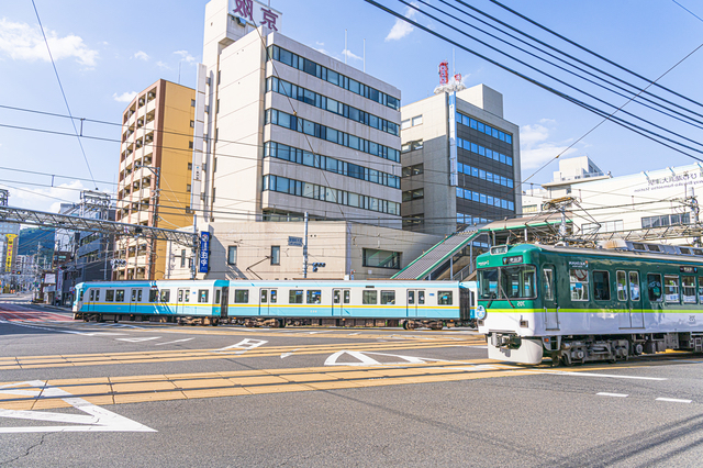 浜大津駅前の風景