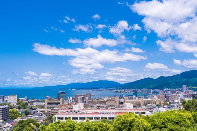 大津サービスエリアからの景色
