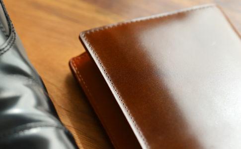 茶色の革財布