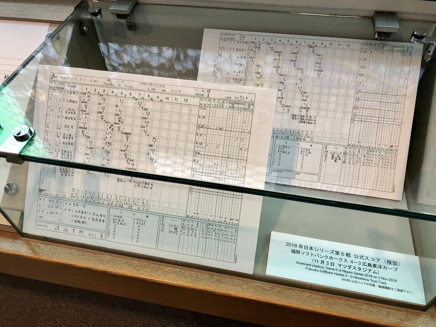 2018年日本シリーズ・第6戦 公式スコア