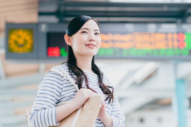 鳥取を旅する女性