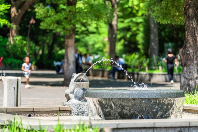 上野公園・カエルの噴水