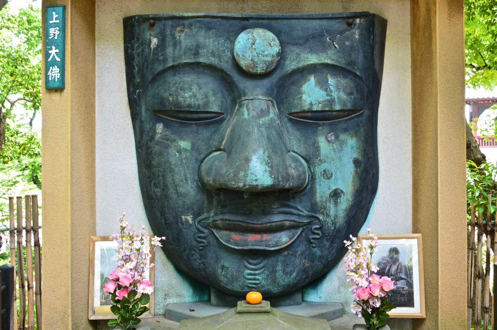 上野大仏の顔