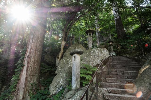 立石寺の参道