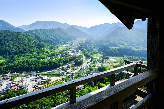 五大堂から見下ろす景色