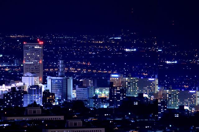 山形市内の夜景
