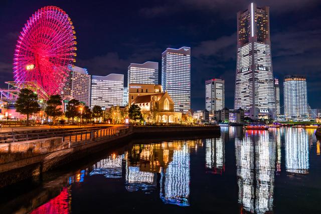 横浜の繁華街