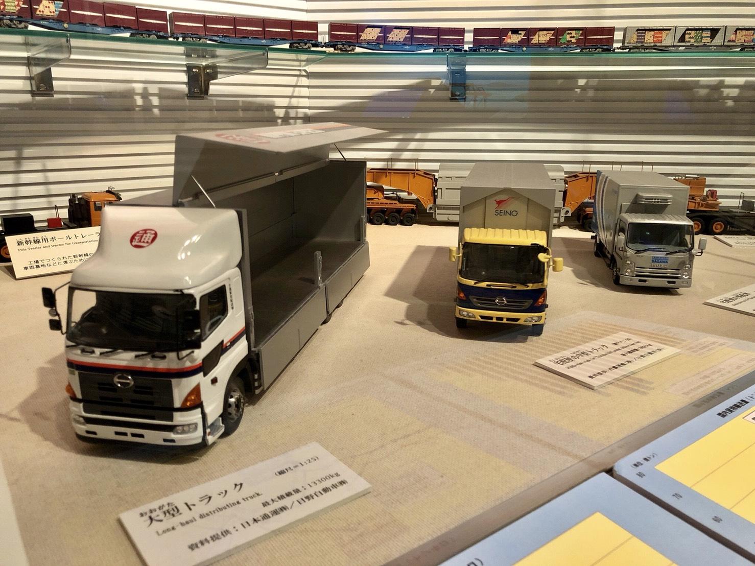 ミニチュア模型のトラック