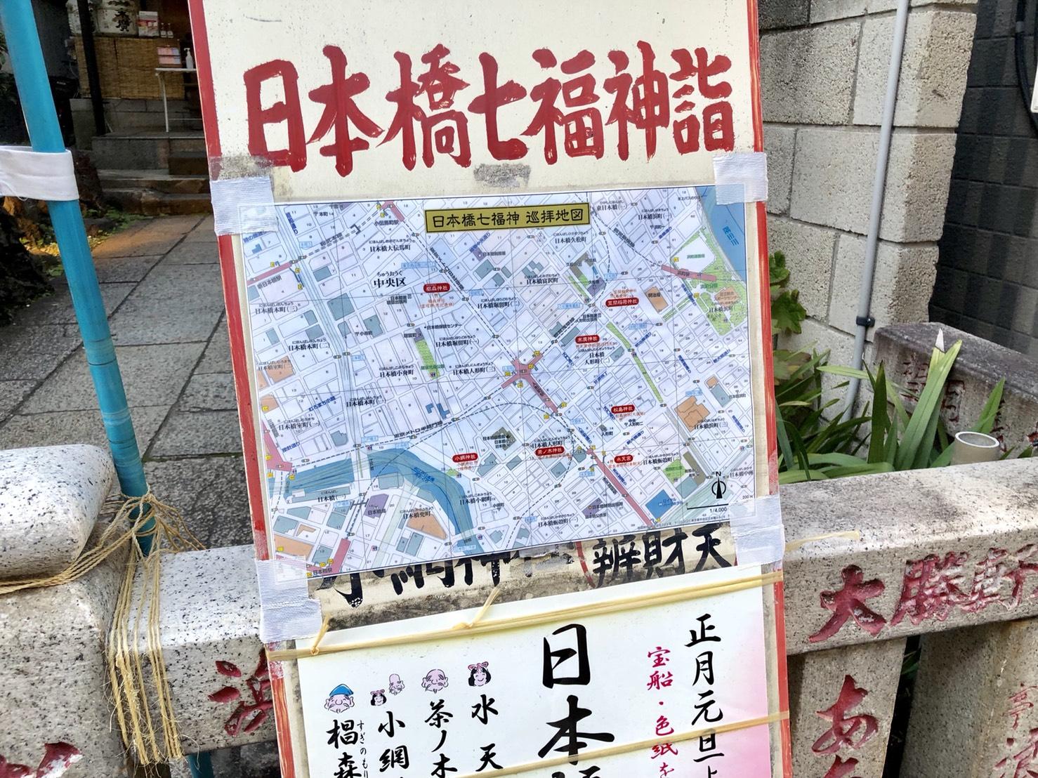 日本橋七福神の看板