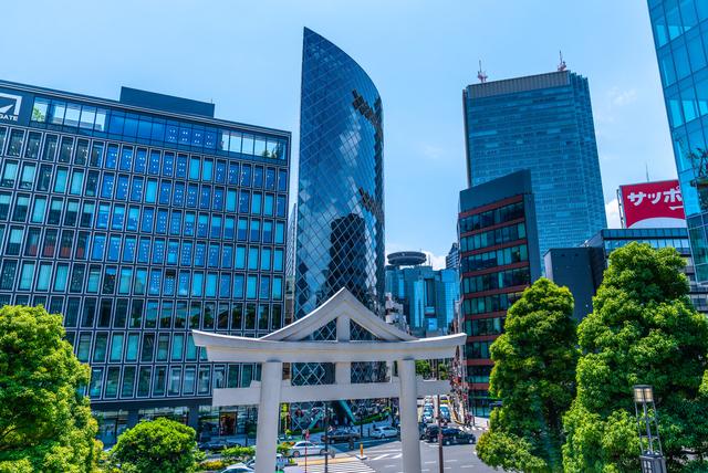 日枝神社とオフィスビル
