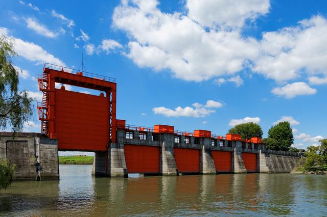 赤羽のシンボルと言われる水門