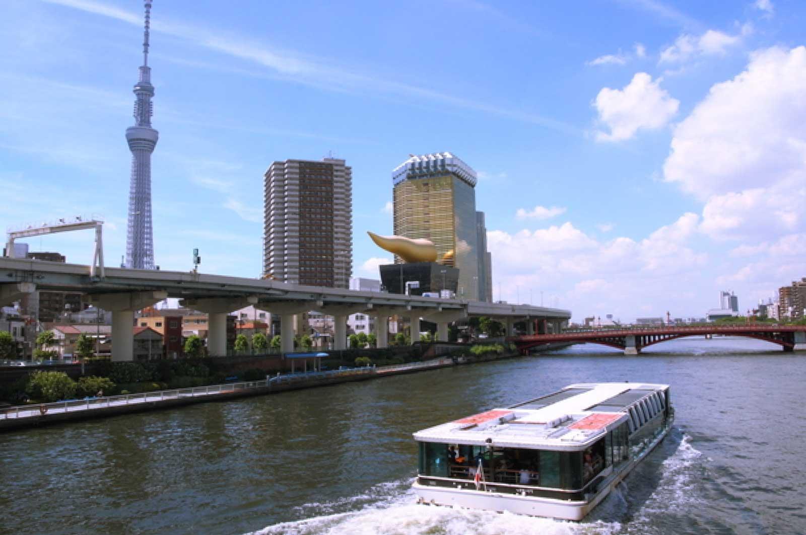 隅田川と東京クルーズ(浅草)