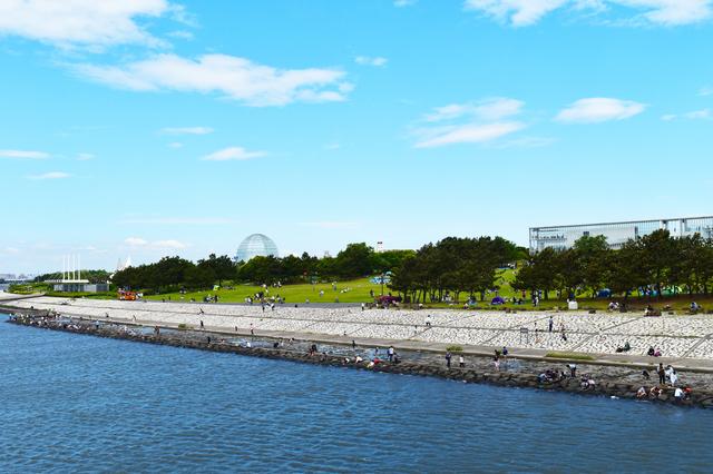 東京湾に面した葛西臨海公園