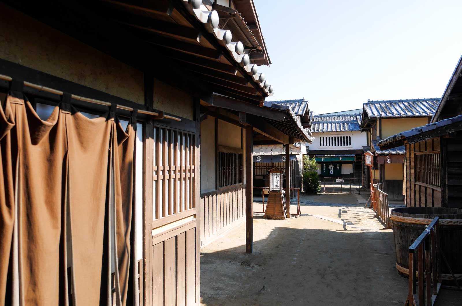 京都太秦映画村の町屋風景