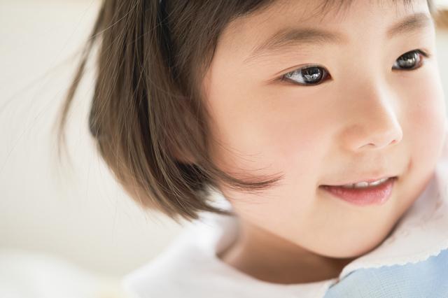 孫娘の笑顔