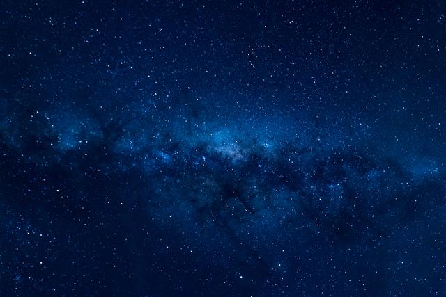 プラネタリウムの美しい星空