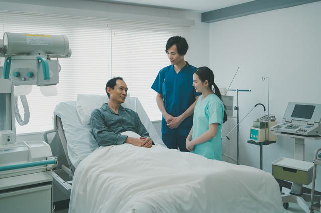 肺がん手術を受けた男性
