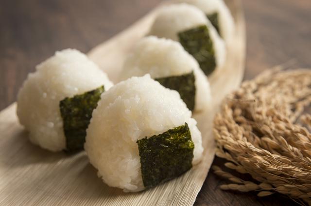 新潟の米で作ったおにぎり