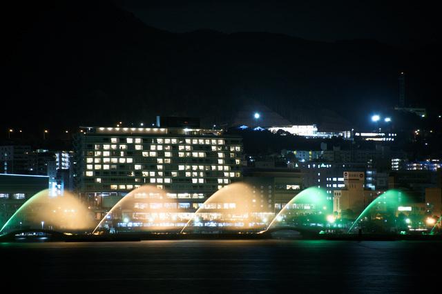 びわ湖花噴水(ライトアップ)