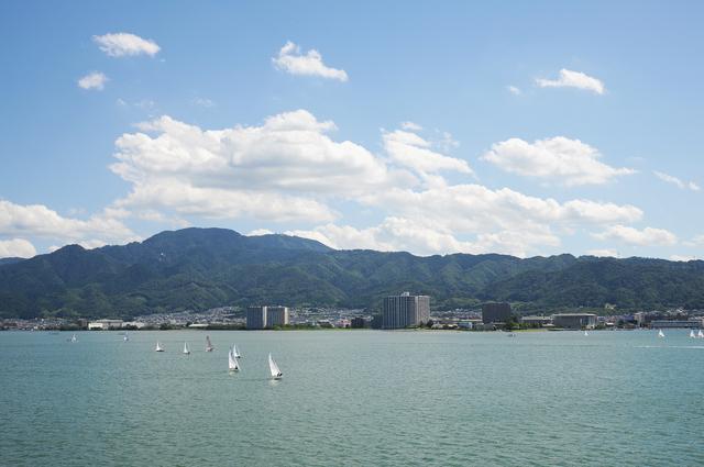 ミシガンから眺める比叡山