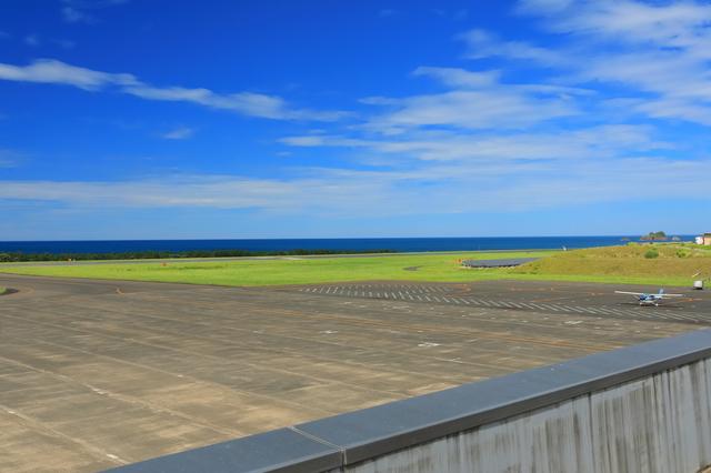 鳥取砂丘コナン空港の滑走路