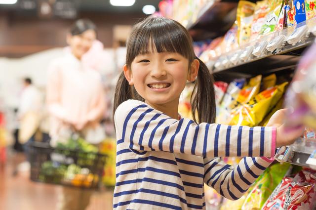 6歳の娘とお菓子