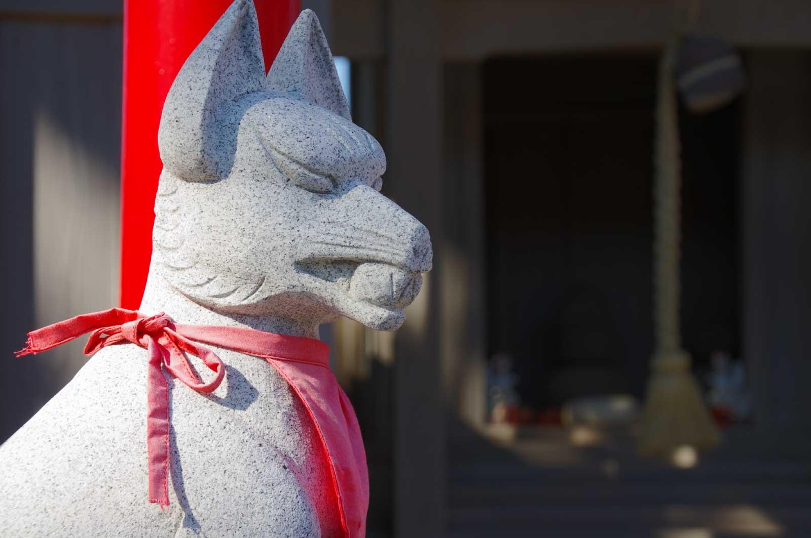 稲荷信仰の象徴の狐