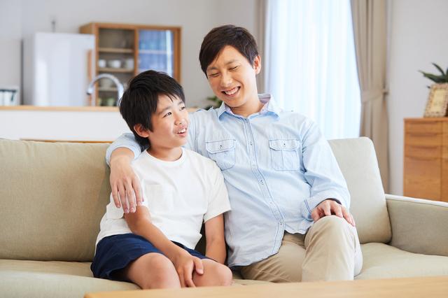父親と息子(中学生)