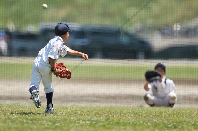 少年野球(ピッチャーとキャッチャー)