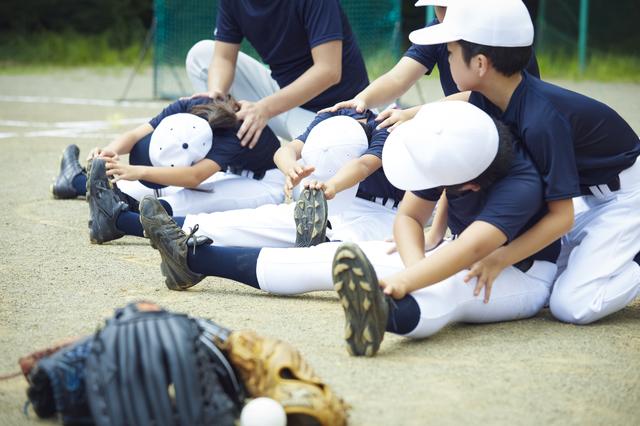 少年野球のストレッチ
