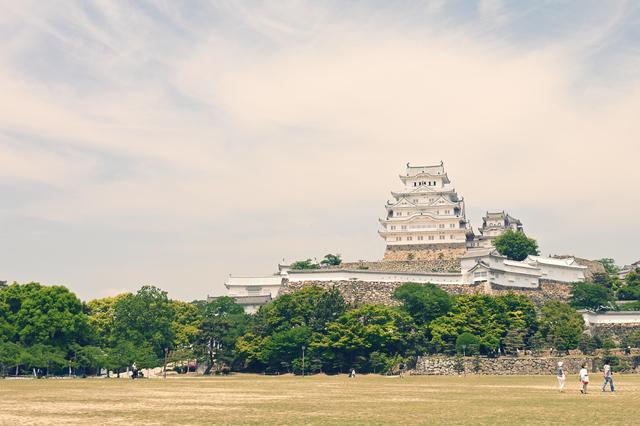 夕暮れの姫路城